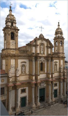 Sizilien - Palermo - Die Kirche San Domenico, Ort der Trauerfeier für den ermordeten Mafia-Jäger Giovanni Falcone