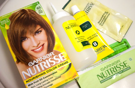 Garnier Nutrisse #63 Light Golden Brown Hair Dye