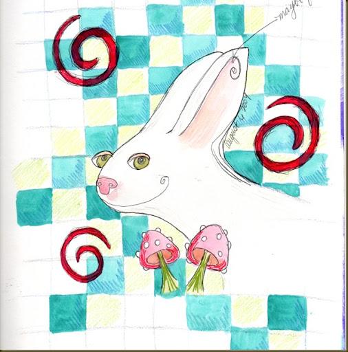 white rabbit lark