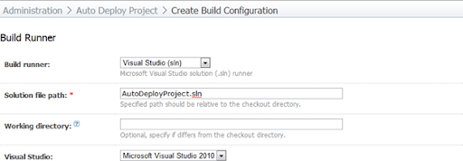 Creating a Visual Studio build runner