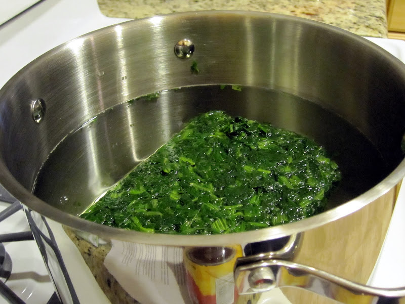 Frozen spinach soup