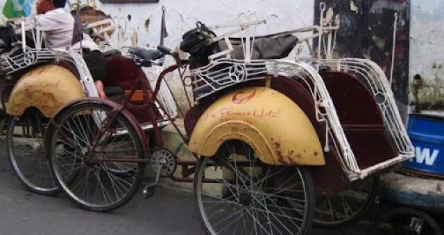 Becak in Yogyakarta