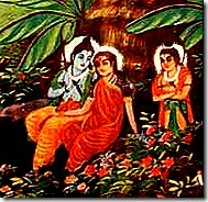 Sita Rama and Lakshmana in the forest