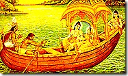 Rama's group travelling with Guha