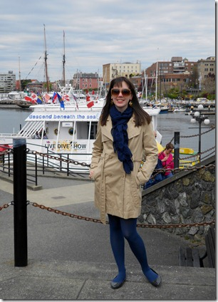 In front of the wharf in Victoria, BC