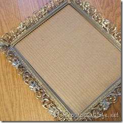 ornate metal picture frame