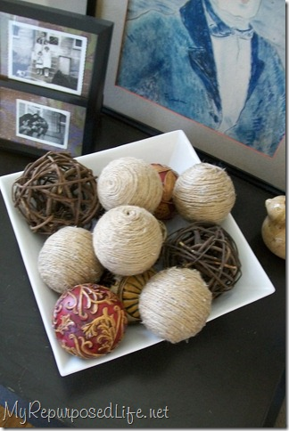 decorating with jute balls