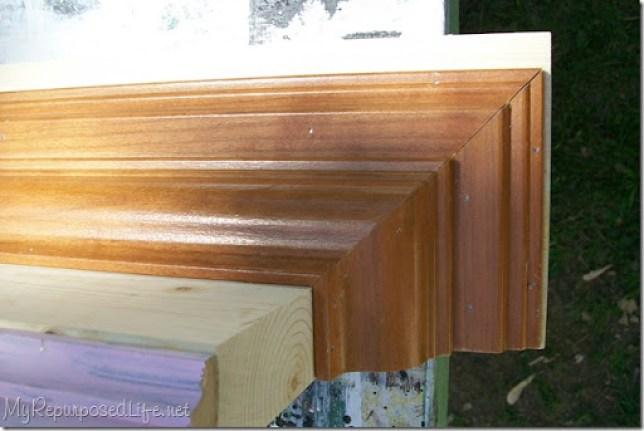 add trim coat rack wall shelf
