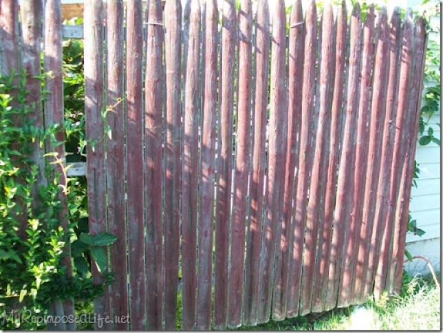 repurposed stockade fence