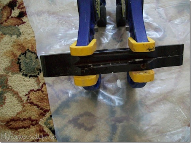 saddle bridge clamped
