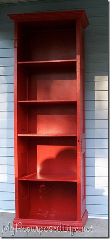 door repurposed bookshelf