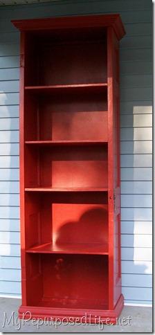 door repurposed bookshelf
