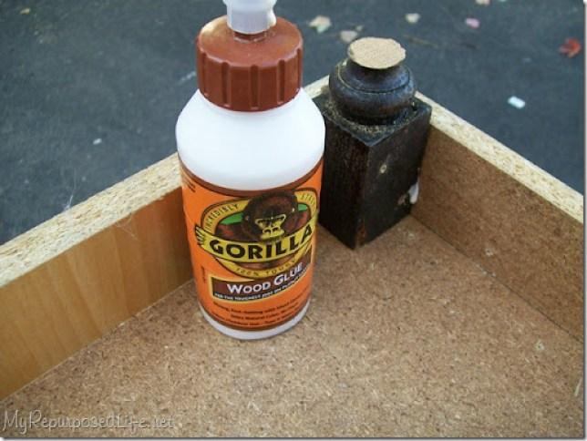 gorilla wood glue for adding feet