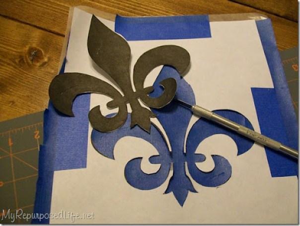 scotch blue stenciling