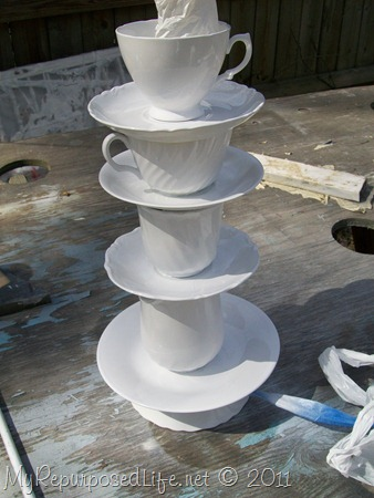 spray pint china cups and saucers for teacup lamp