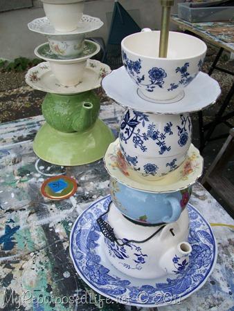 teapot teacup lamps MyRepurposedLife.com