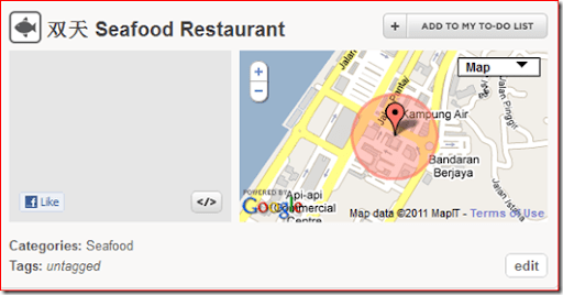 Seafood restaurant KK