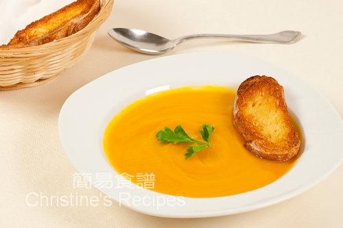 南瓜甜薯湯【金黃靚西湯】 Pumpkin and Sweet Potato Soup | 簡易食譜 - 基絲汀: 中西各式家常菜譜