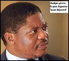 ANTI AFRIKANER JUDGE FRANS KGOMO _RULNGS QUASHED BY SUPREME COURT BECAUSE OF BIAS 2009