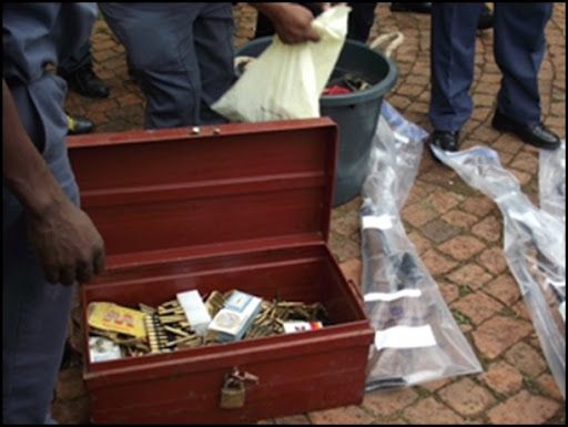 Arms cache Moreleta Park Pretoria Jan 142011 highpowered rifles could be POACHING SYNDICATE