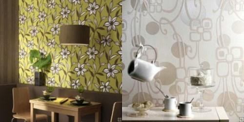 decorar y renovar una pared con papel pintado