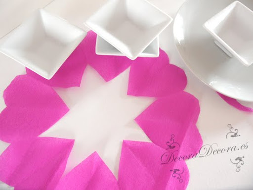 decoracion san valentin manteles de papel