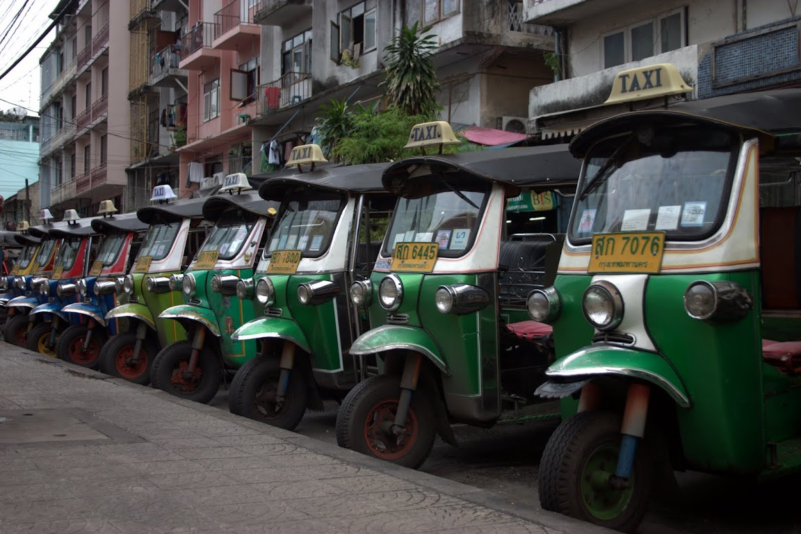 Where tuk-tuks go to sleep
