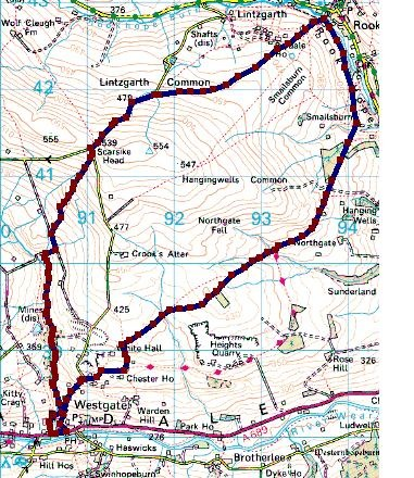 weardale map