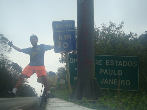 Km 0 da BR-101 - divisa de Estados SP/RJ