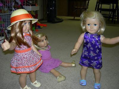 Kit modeling her tea party dress!!!