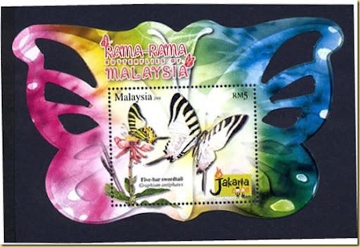 malayasia butterfly 2008 Black Background