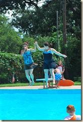 2 ladies jumping