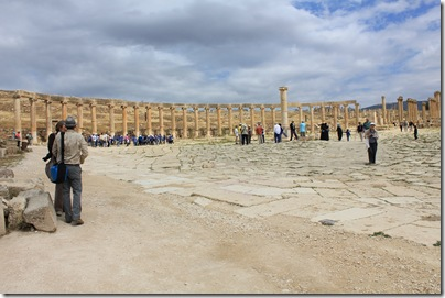 Ruins of the Oval Forum, Jerash, Jordan