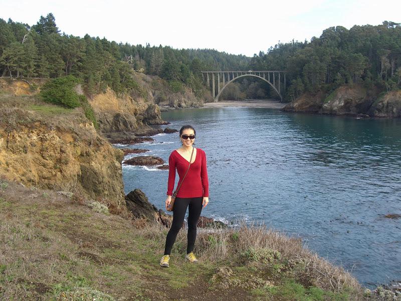 Famous Russian Gulch bridge