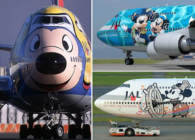 Gambar-gambar unik di badan pesawat maskapai favorit dunia