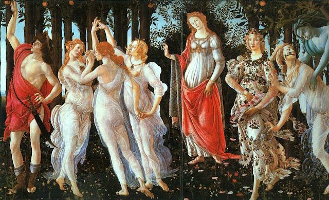 Alegoría del Nacimiento de la Primavera.-Botticeli(1482)