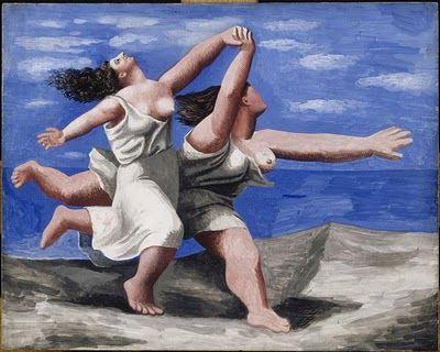Dos mujeres corriendo por la playa. La carrera(1922). Pablo Picasso.