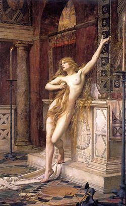 Hypatia de Alejandría.-Pintura de Charles William Mitchell
