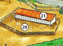 20. gallinero 21. casa de gallina