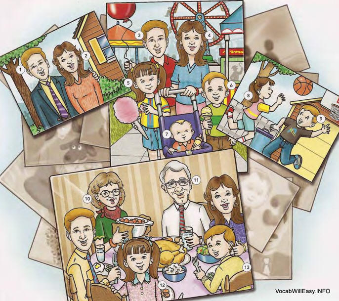 family%20members Family Tree people english through pictures dictionary children
