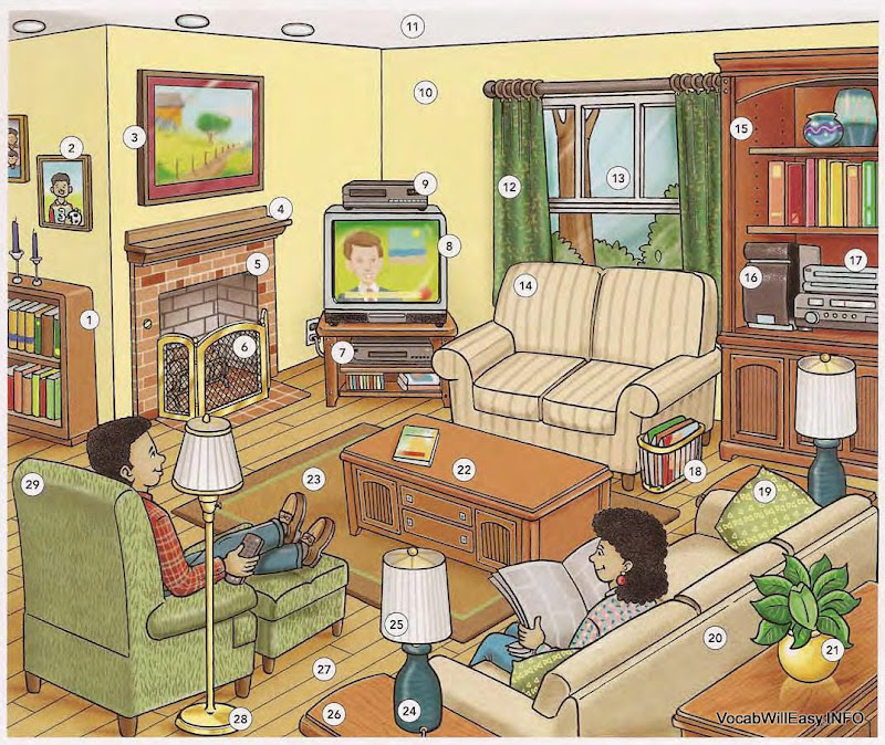 LIVING ROOM - Online Dictionary for Kids