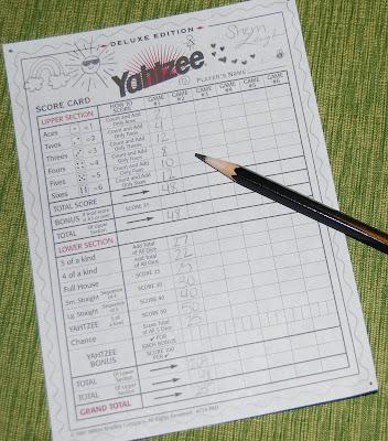 My decorated score sheet