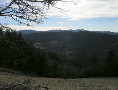 looking south toward the Mad River drainage