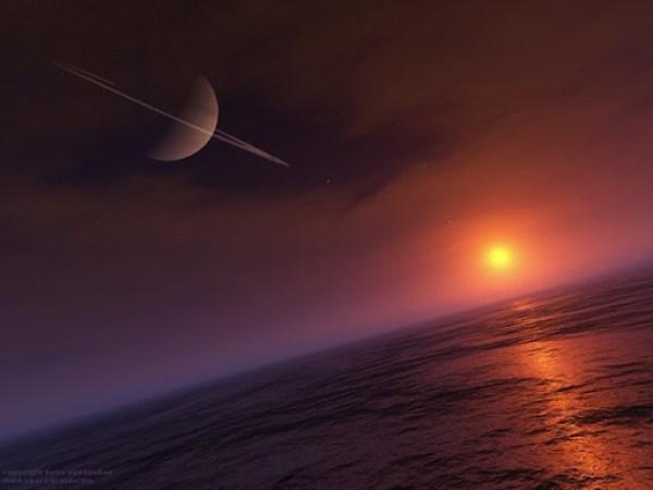 Saturno desde Titan