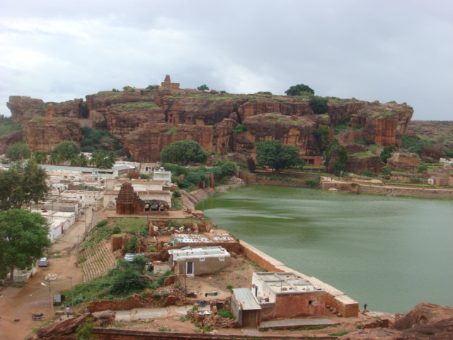 View from Cave Temple, Badami