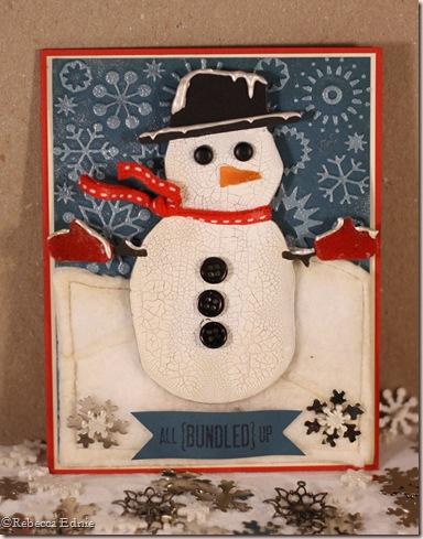 snowman on snowy hills