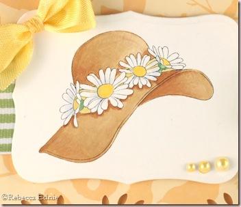 hat smile card closeup