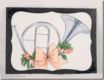 pink silver french horn ATC