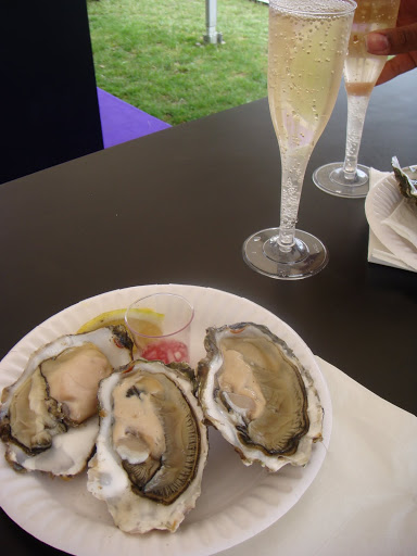 champagne and oysters at taste of london festival