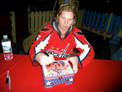 Gotta get the lunch box signed...he found himself on the box and signed there. haha